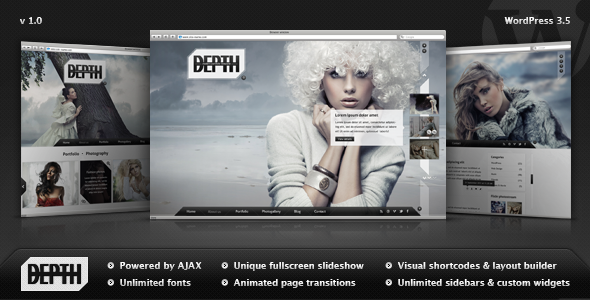 Depth - Fullscreen Photography WordPress Theme