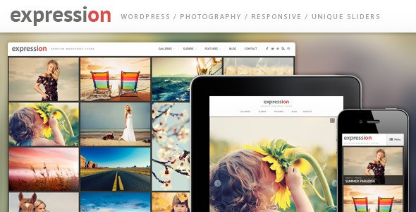 Expression - Fullscreen Grid Portfolio WordPress Theme
