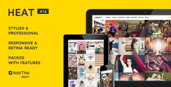 HEAT 1.2 - Fullscreen Grid WordPress Theme