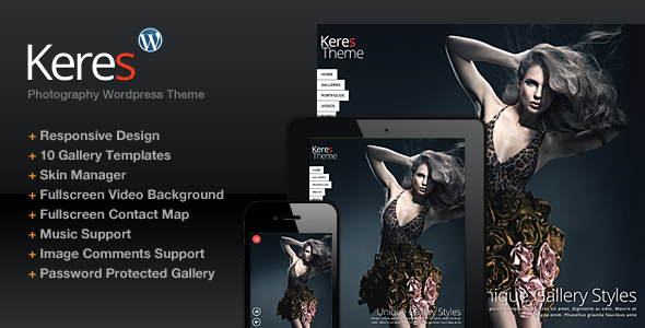 Keres - Fullscreen Background-Slider WordPress Theme