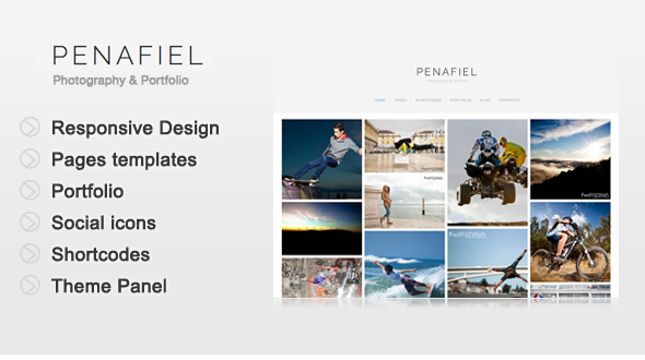 Penafiel - Photography & Portfolio Template