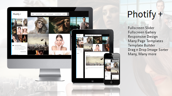 Photify - Fullscreen Grid Portfolio Template