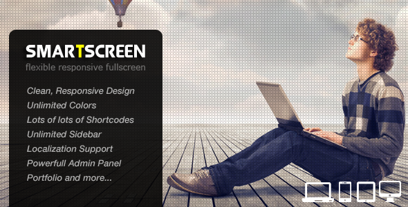 Smartscreen - Fullscreen Photography WordPress Theme