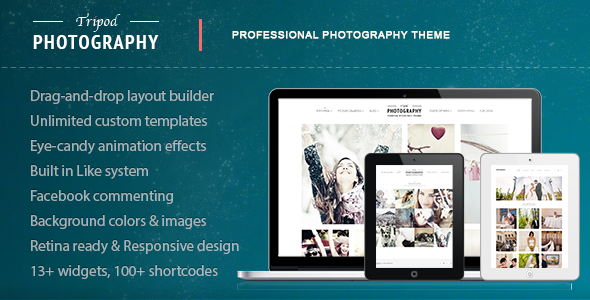 Tripod - Portfolio One-Page WordPress Theme