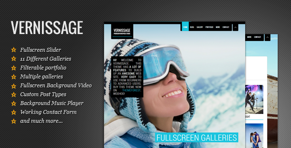 Vernissage - Fullscreen WordPress Photo Theme