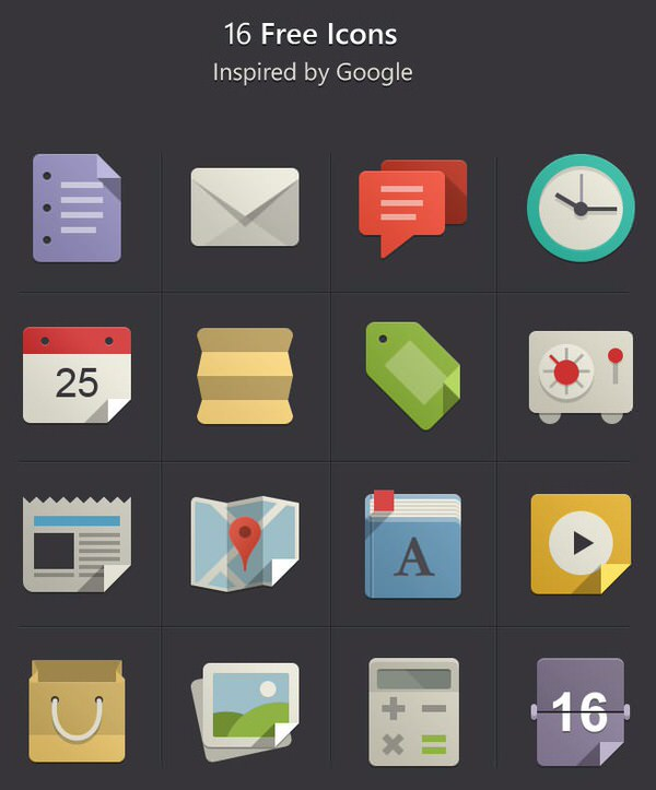 16 moderne Icons