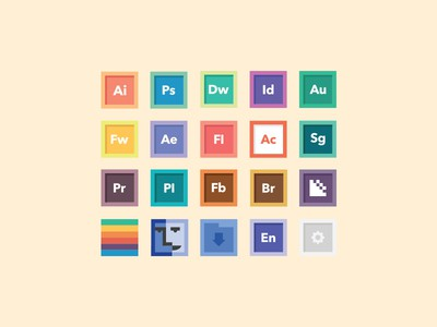 Free Square Icon Set