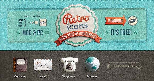 Freebie - Retro Icons