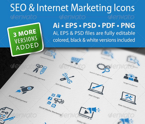 48 SEO & Internet Marketing icons