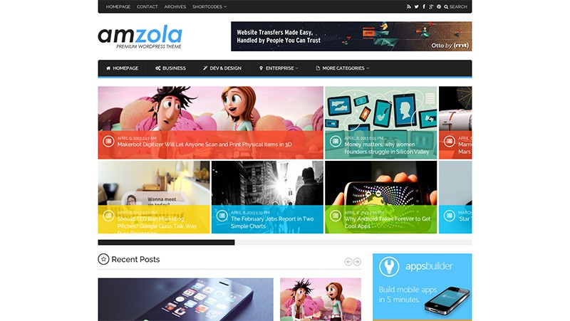Amzola WordPress Magazine Theme