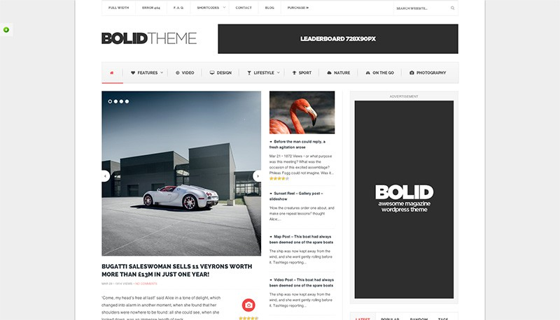 Bolid WordPress Magazine Theme