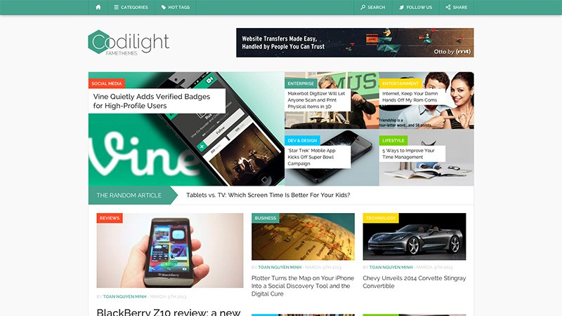 Codilight Wordpress Magazine Theme
