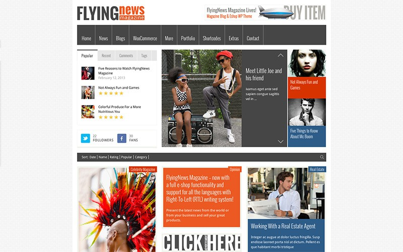 FlyingNews WordPress Magazine Theme