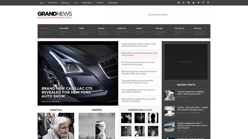 GrandNews WordPress Magazine Theme