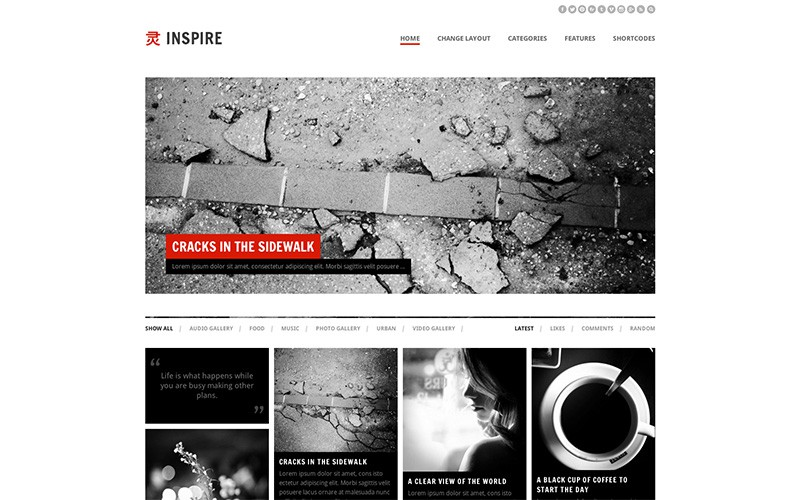 Inspire WordPress Magazine Theme