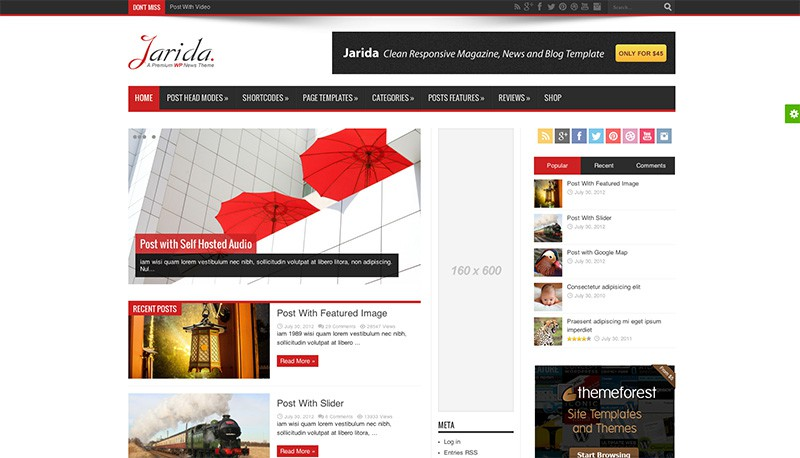 Jarida WordPress Magazine Theme