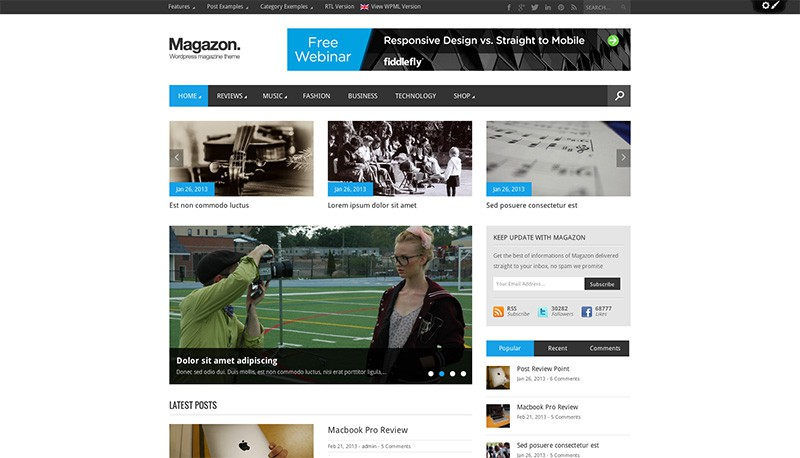 Magazon - WordPress Magazine Theme