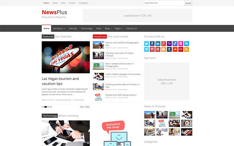 NewsPlus - WordPress Magazine Theme