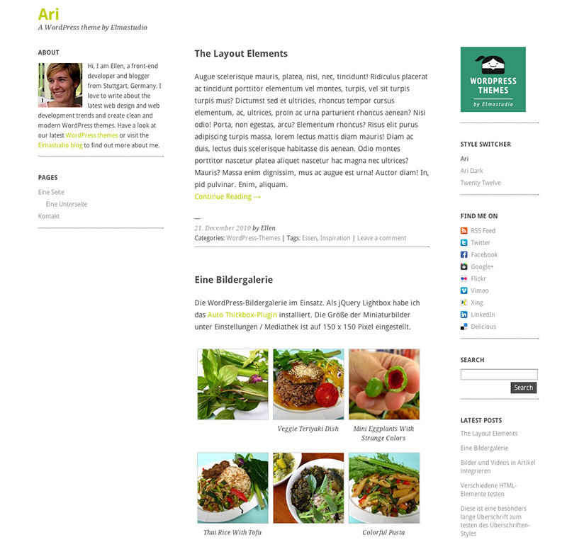 Kostenloses Blogging WordPress Theme