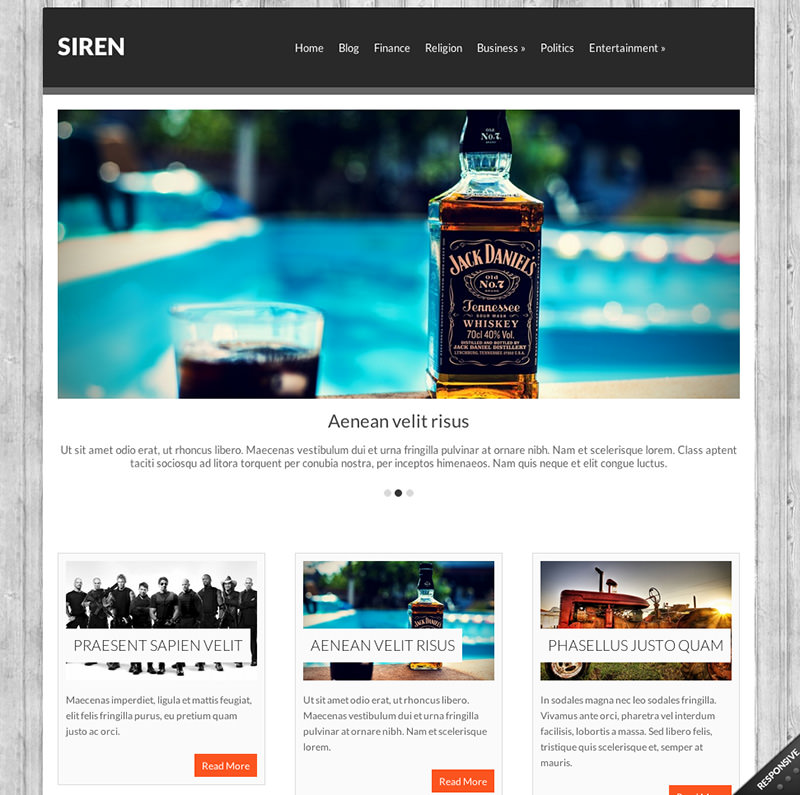 Business WordPress Theme mit Slider