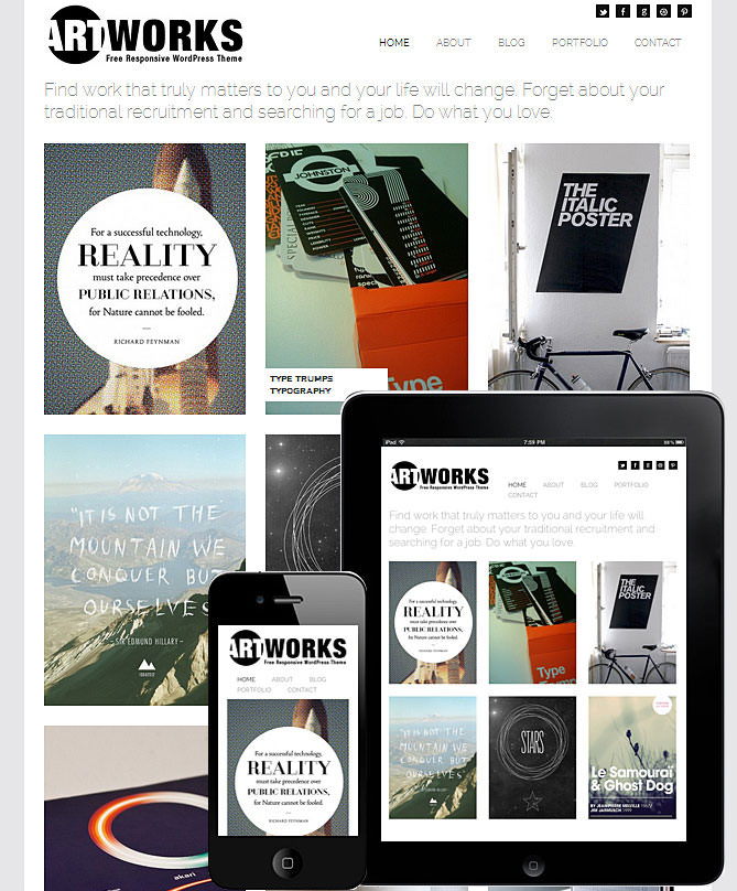 Kreatives Portfolio WordPress Theme