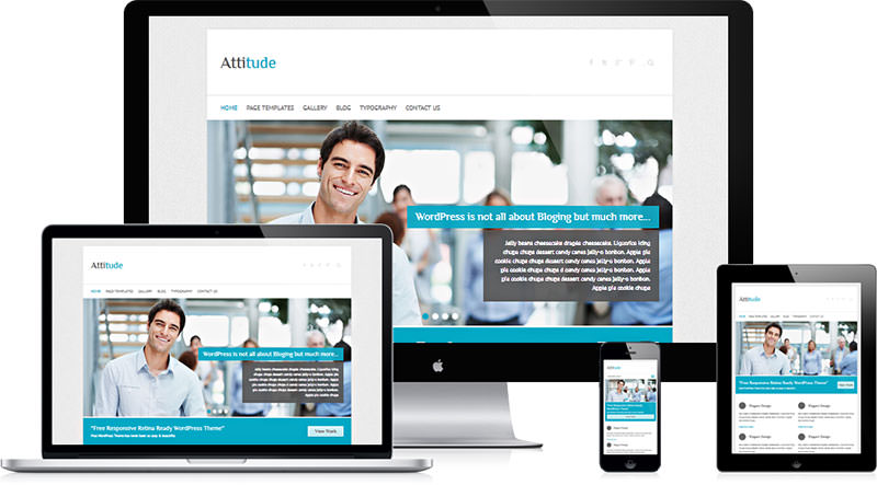 Free Responsive Wordpress Theme Attitude