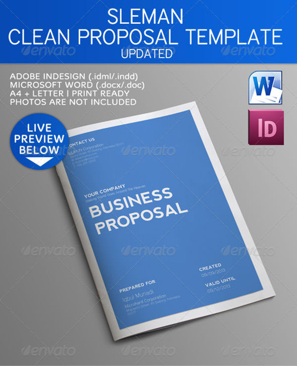 Modernes Businessplan Print-Template