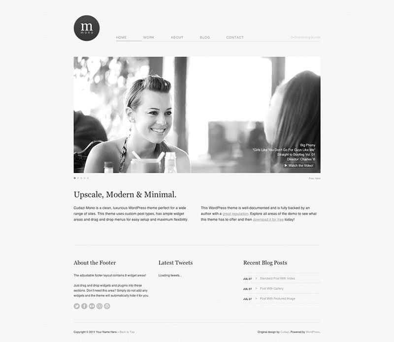 Minimales Webdesign - Einfaches WP Template
