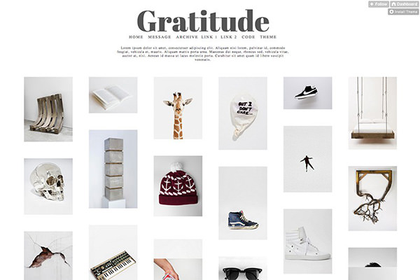 Gratitude - Multi-Column Tumblr Theme