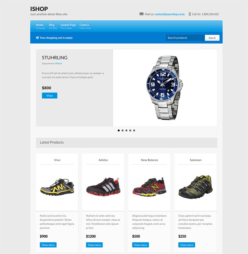 Free WordPress Shopping Theme
