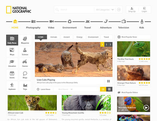 National Geographic Redesign Template