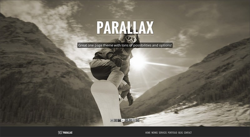 Einseitiges Parallax WordPress Theme
