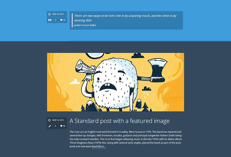 Tumblr-Style Wordpress Theme