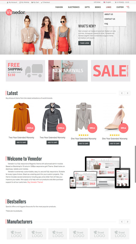 Cooles eCommerce Magento Theme