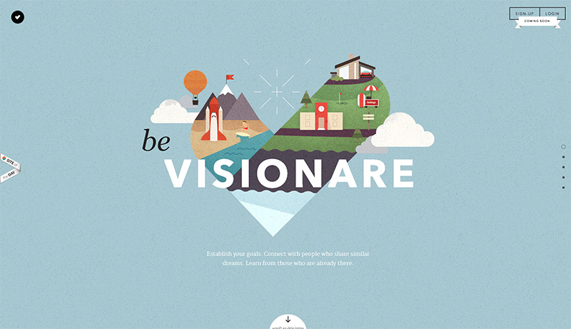 Visionare - Kreatives One Page Layout
