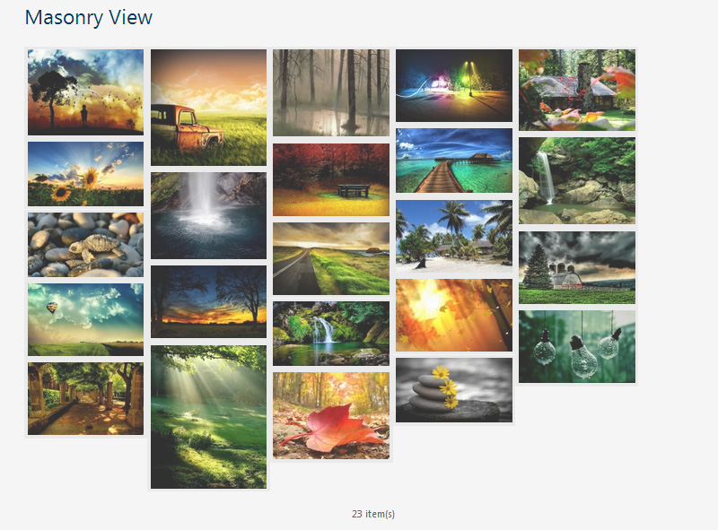 Free WordPress Gallery Plugin mit Masonry Layout