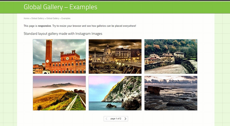 WordPress Image Gallery mit 3-spaltigem Layout