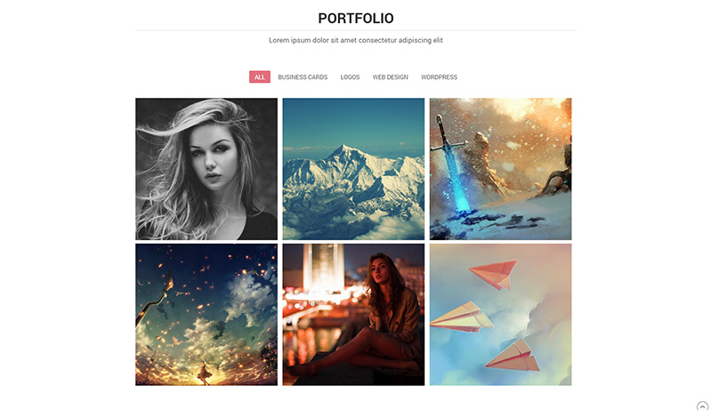 Minimales One-Page WordPress Portfolio Template