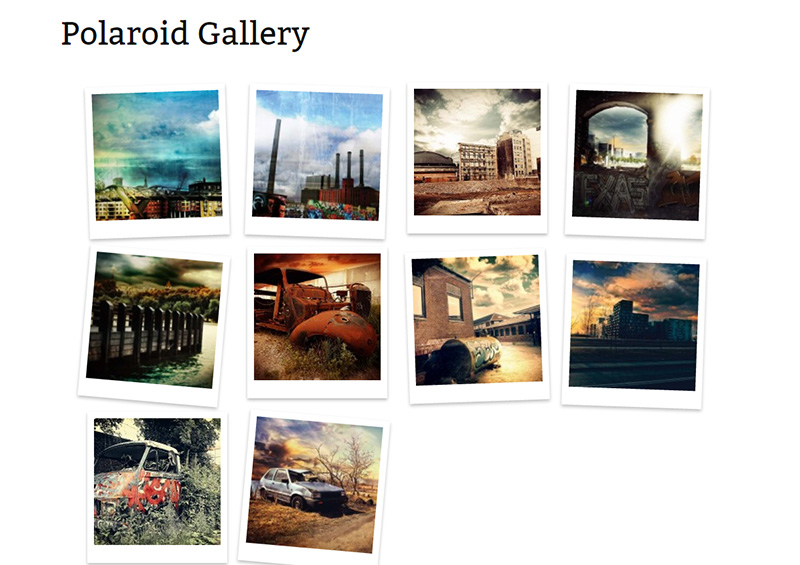 Free Image Gallery Plugin mit Polaroid Design