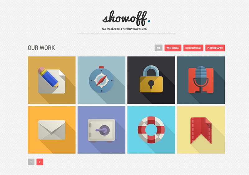 Responsive WordPress Gallery Plugin mit Flat Design