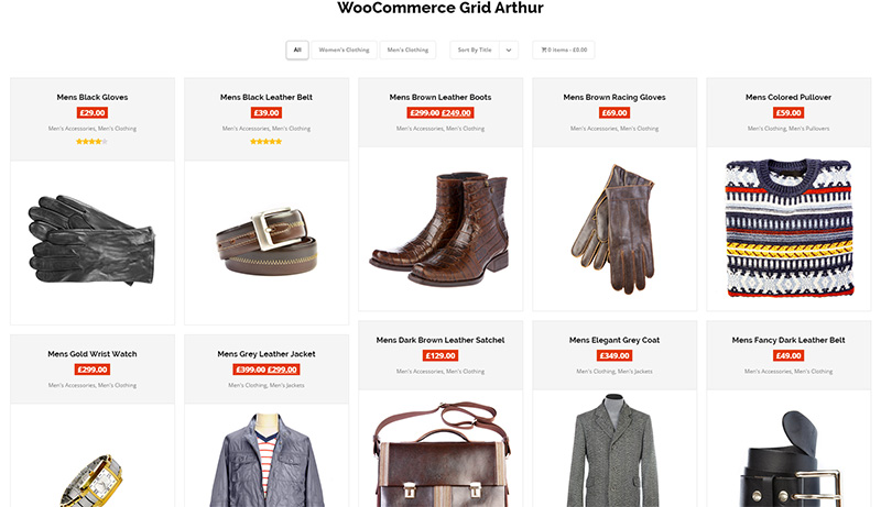WordPress WooCommerce Gallery Grid