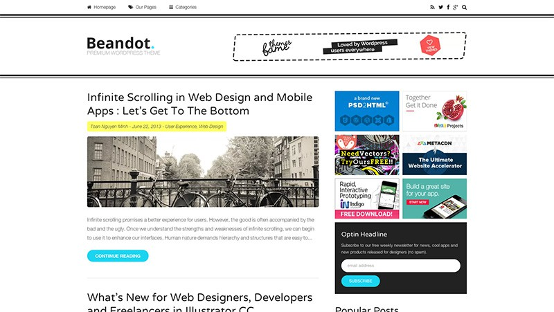 Beandot WordPress Magazine Theme