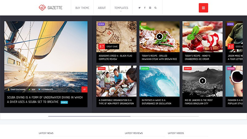 Gazette WordPress Magazine Theme