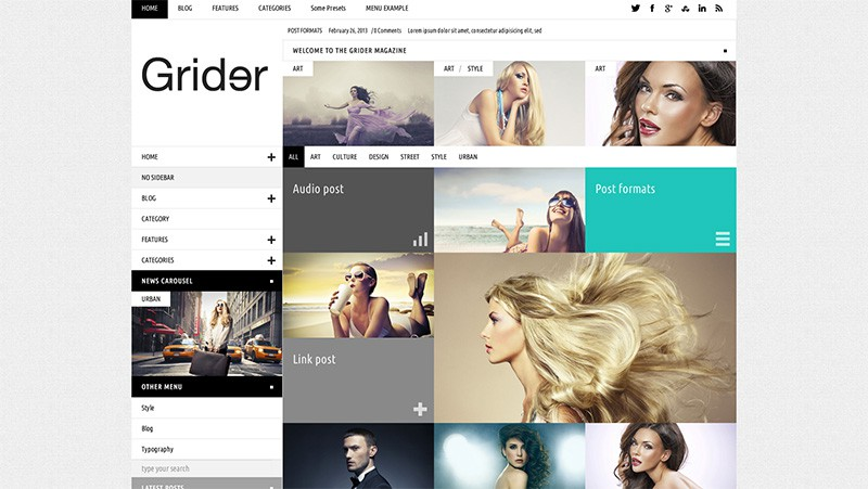 Grider Magazine WordPress Theme