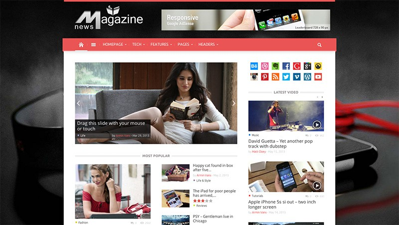 Magazines - WordPress Magazine Theme
