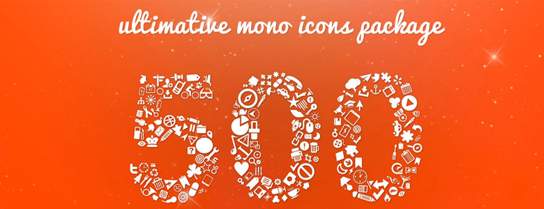 500 Mono Icon Package