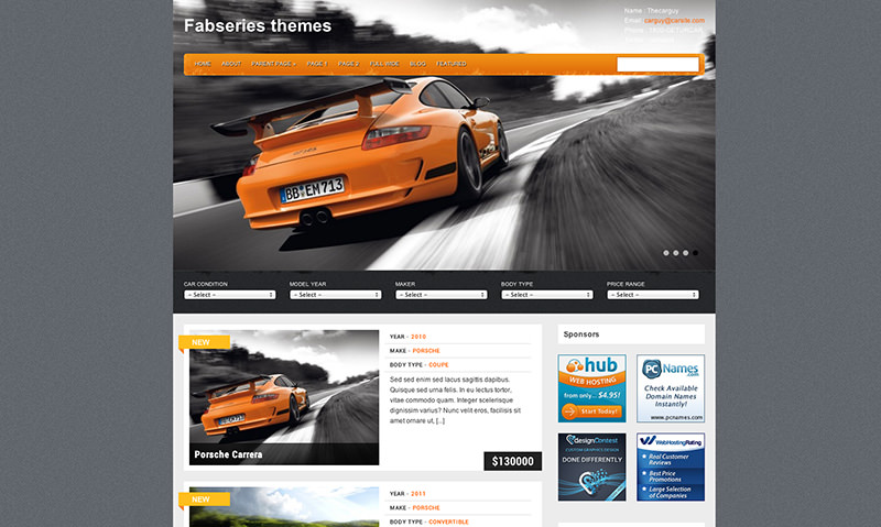 Cooles WordPress Theme mit Filter