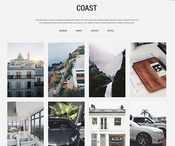 Coast - Free Tumblr Theme