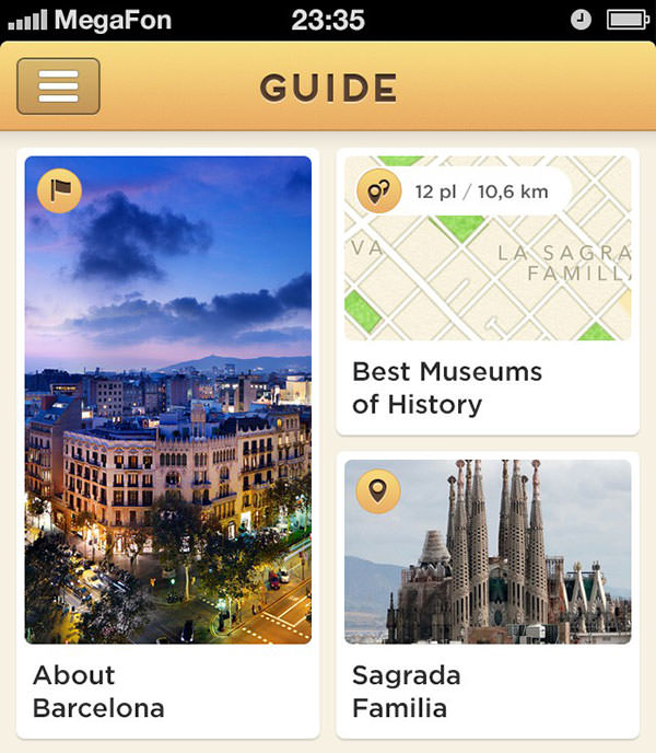 Mobile User-Interface für Map-Guide
