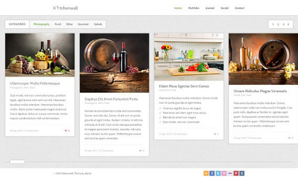 Ausgefallenes Blog Website Template